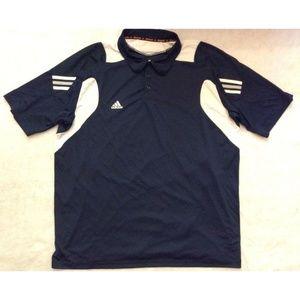 Adidas Mens Polo Shirt Sz 3XL Navy Blue